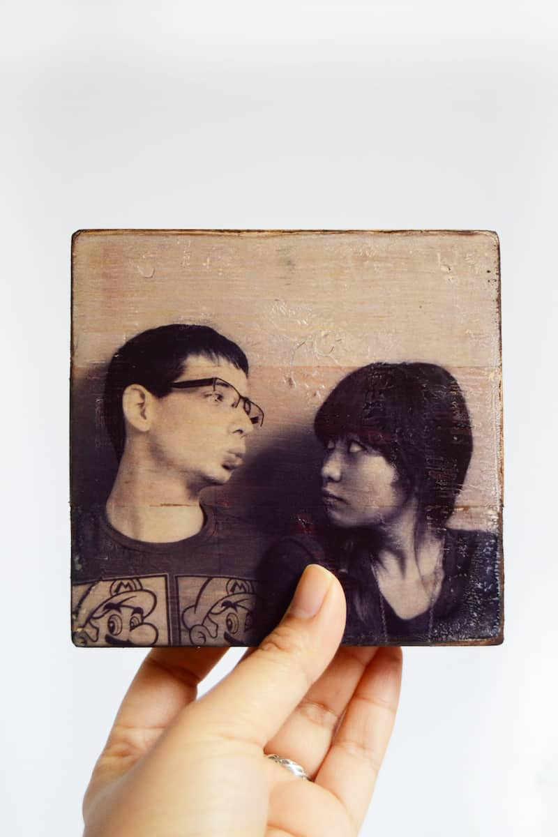Inkjet transfer of a photo