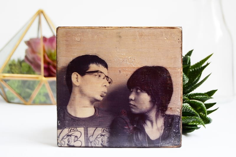 transfer inkjet images to wood using mod podge