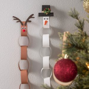 Reindeer & snowman paper kids adven...