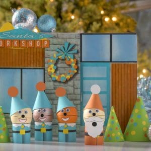 Christmas village DIY gift kit with eos