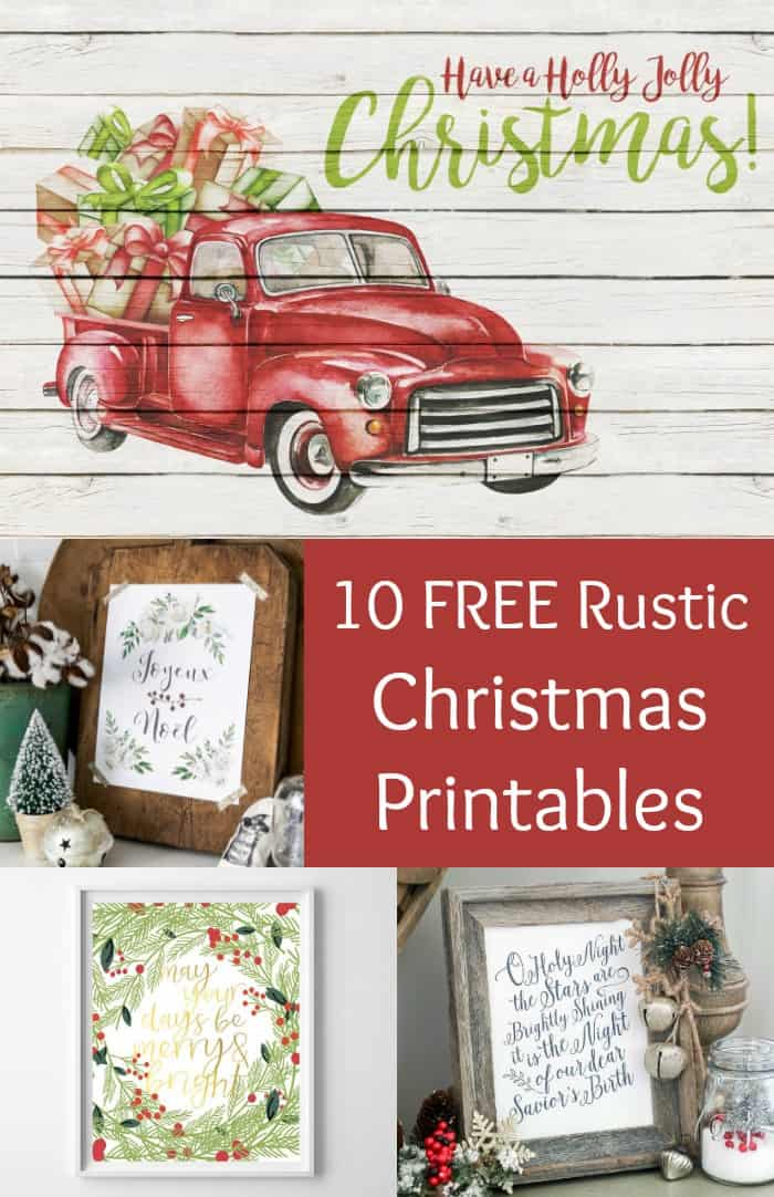 image relating to Christmas Art Printable identify 10 Absolutely free Rustic Themed Xmas Printables - Mod Podge Rocks