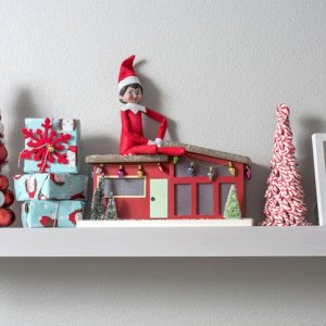 An awesome shelf to hold your elf (with free printable)