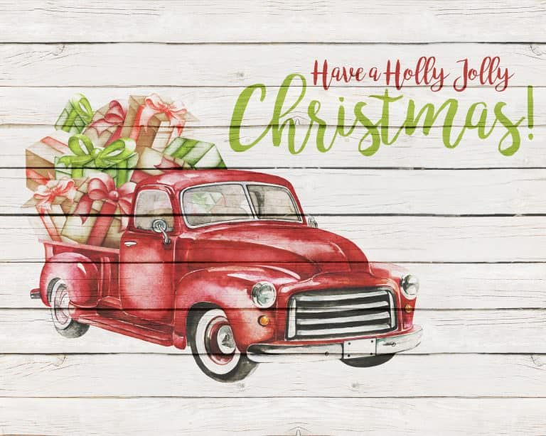 10 Free Rustic Themed Christmas Printables