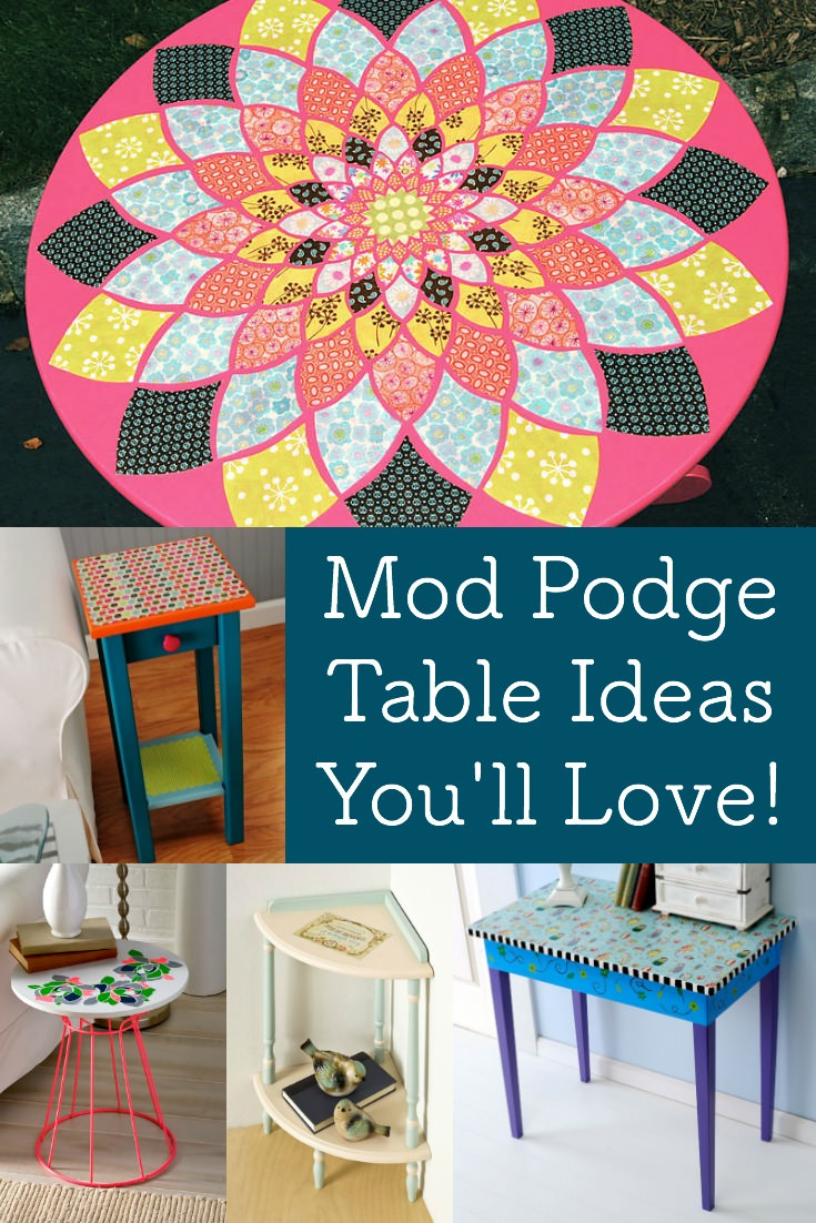 Mod Podge DIY table ideas