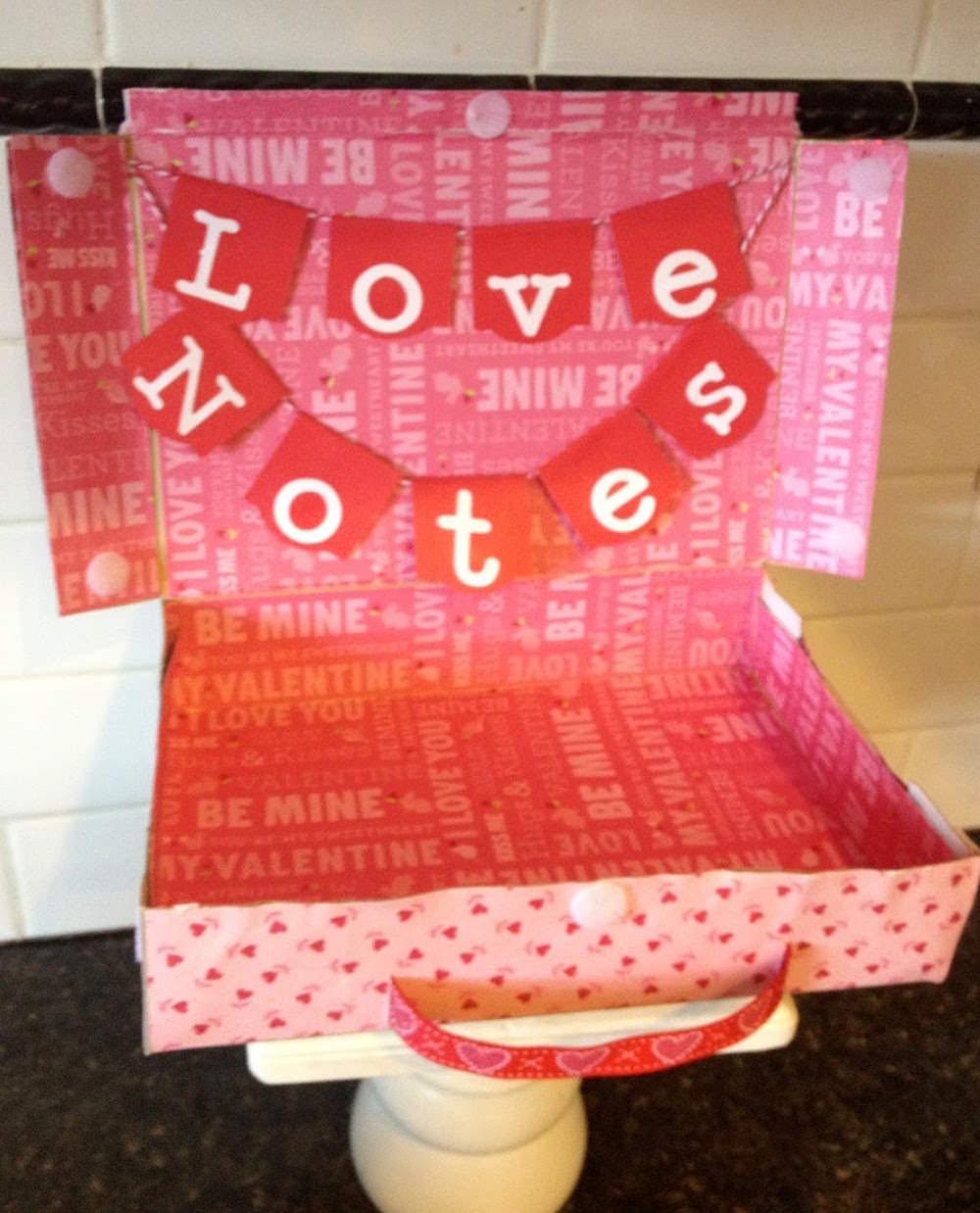 Mod Podge valentine suitcase