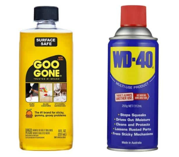 Goo gone and Wd40
