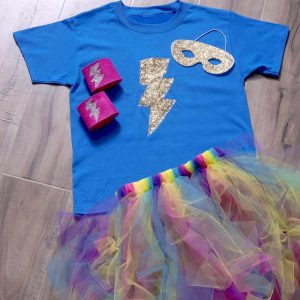 Learn to make a DIY superhero costume for kids - the easy way! This costume is budget friendly and simple for anyone to do. Great for Halloween or Superhero Week at school!