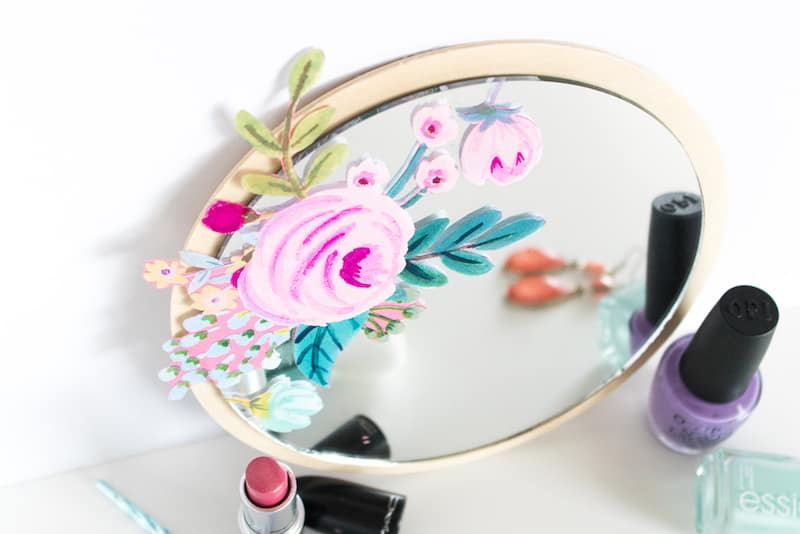 decoupage mirror