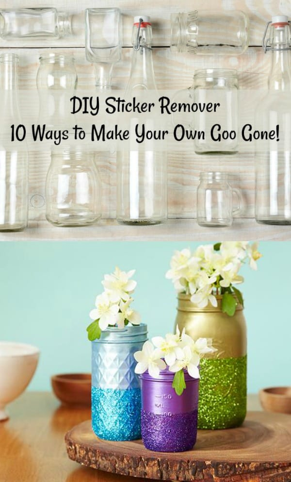 Do you want to make your own sticker remover? Here are ten options for making a non-toxic, DIY sticker remover. You likely have all the ingredients on hand! Remove adhesive from glass, from plastic, from wood, from metal, and more.