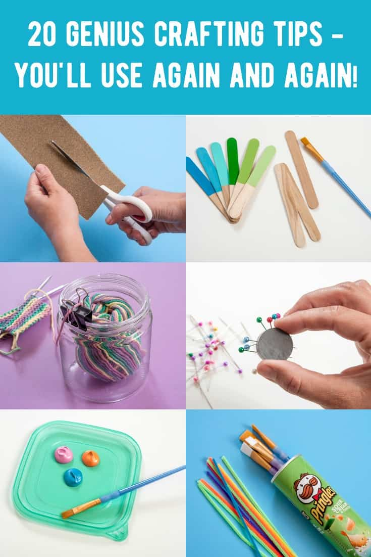 You'll love this collection of 20 genius DIY crafting tips and tricks! These are the kind of creative hacks your grandmother used - you'll find them so useful for every day life!