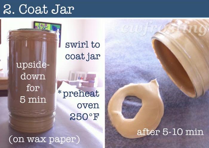 Coat jar with Mod Podge