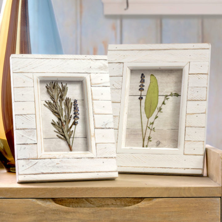 DIY pressed flower art