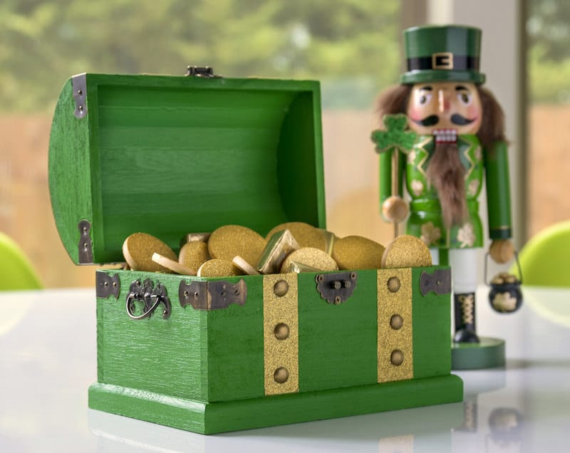 Treasure Chest of Gold St. Patrick's Day Decor