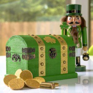 Treasure Chest of Gold St. Patrick's Day Decor