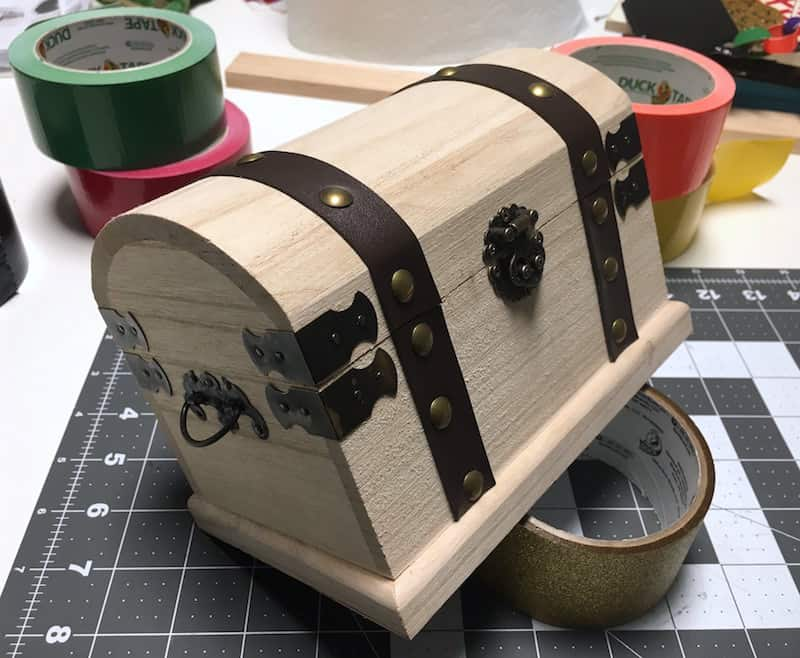 Wooden treasure chest from Michaels