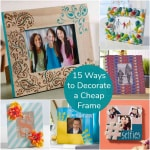 15 ways to decorate a cheap frame