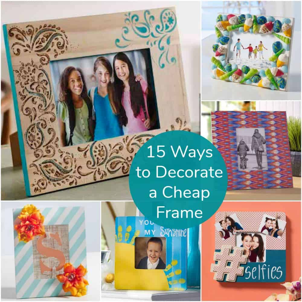 How To Decorate Girly Bedroom: 15 Ways To Decorate Cheap Wooden Picture Frames