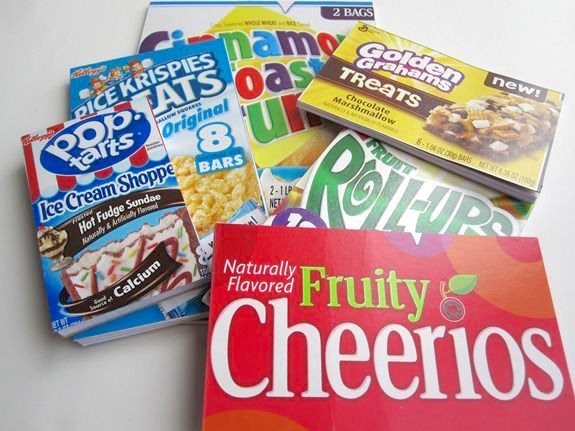 Cereal boxes turned into notepads