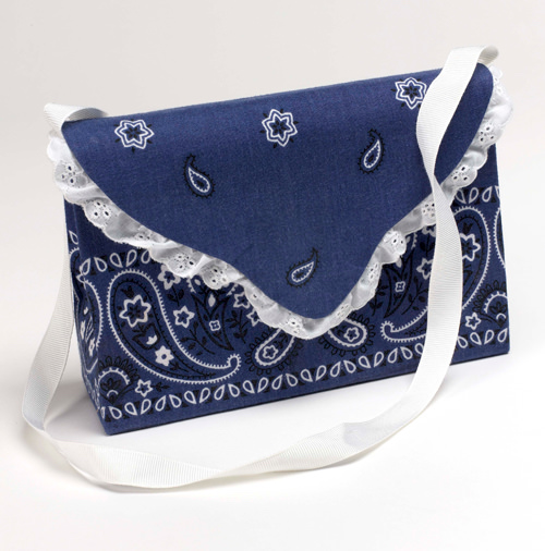 DIY bandana purse