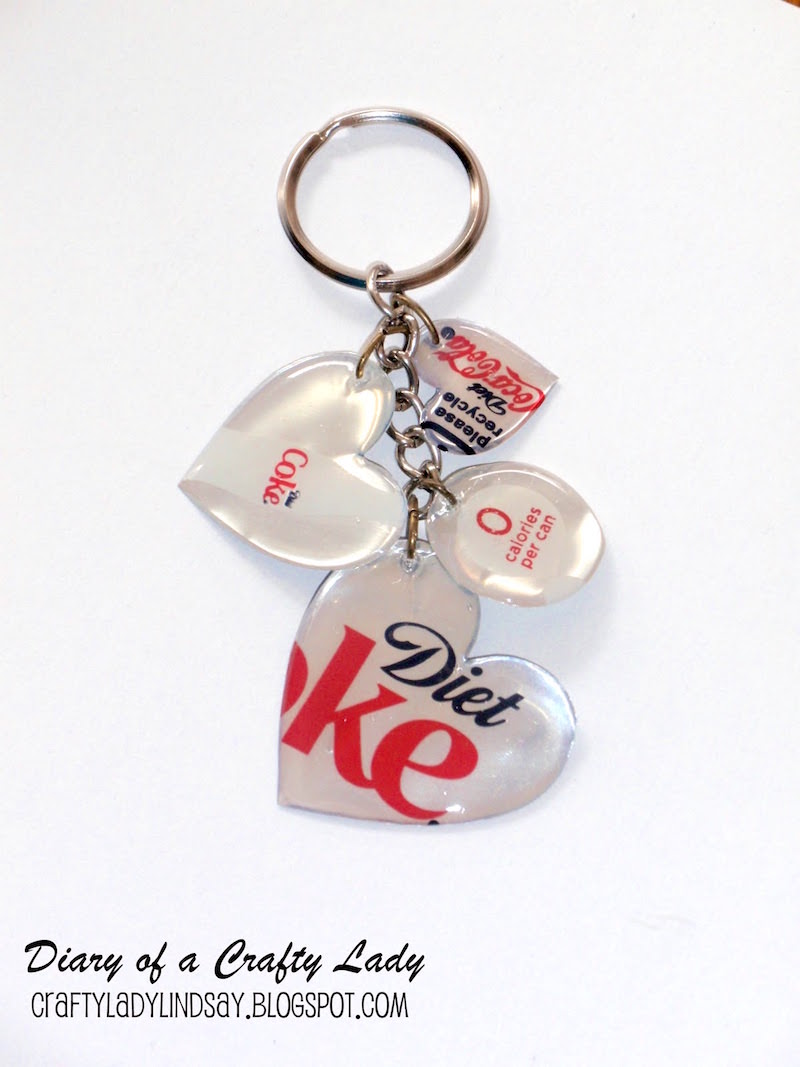 DIY diet coke can keychain