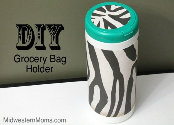 DIY plastic bag holder