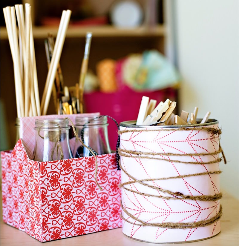 DIY recycled organizer