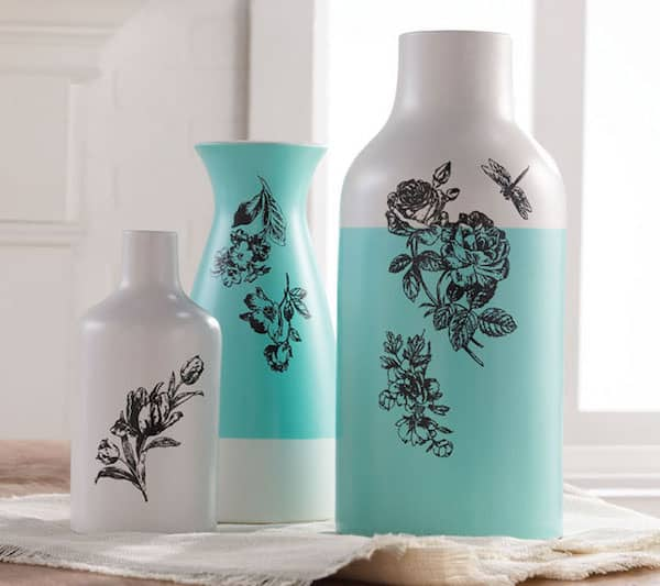 DIY silkscreened vases