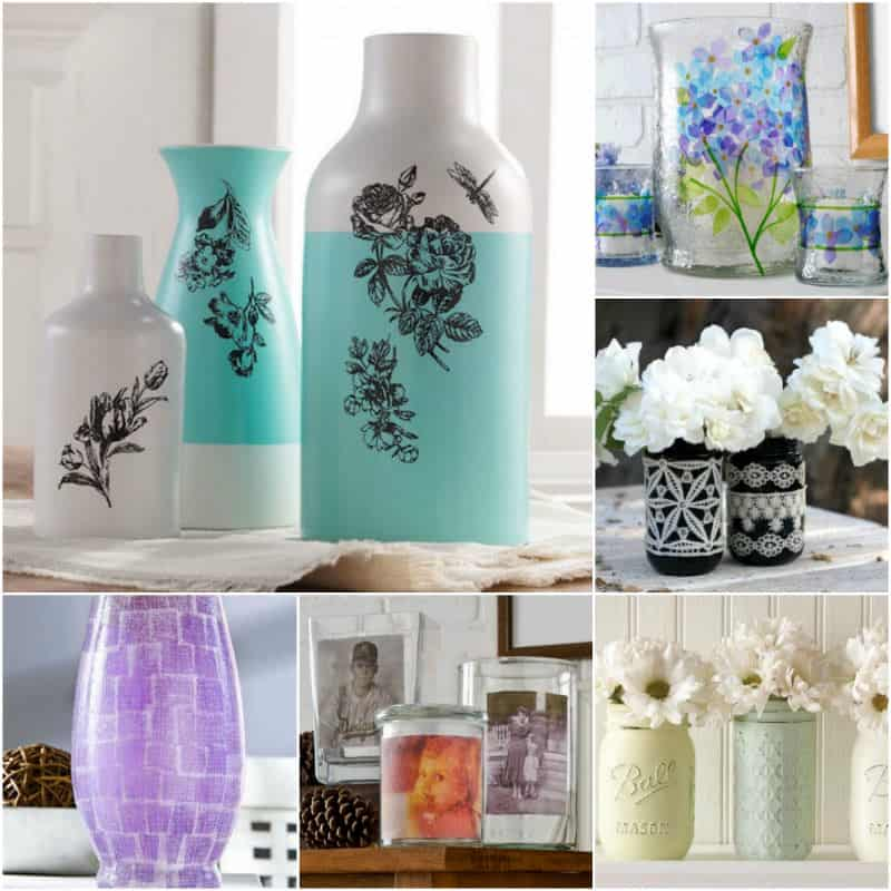 15 Pretty Ways To Decorate A Vase Mod Podge Rocks