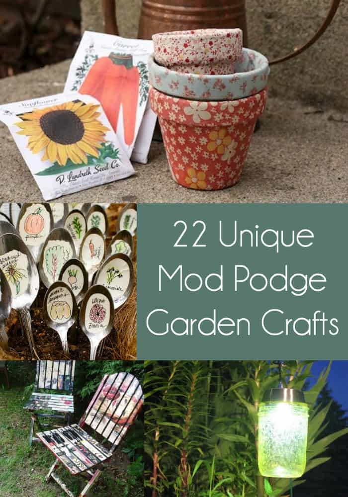 Get inspired to decorate your outdoor space with these 20+ unique garden crafts! You'll love the variety of DIY garden decor you can create, from markers to pots to furniture. Perfect for summer - options for kids and for adults! Make them for yourself or to sell.
