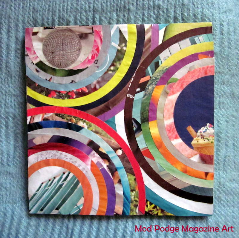 Mod Podge magazine canvas art