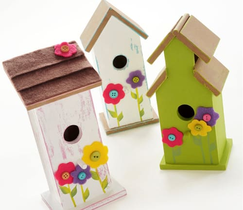 Decorate Birdhouses with Felt Accents