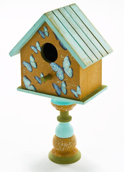 Distressed and Speckled Birdhouse