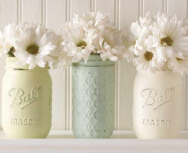 Vintage Mason Jar Vases