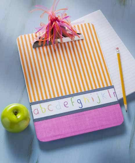 teacher gifts - handmade clipboard