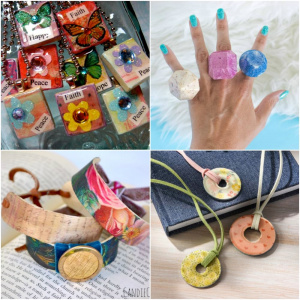 Decoupage jewelry projects