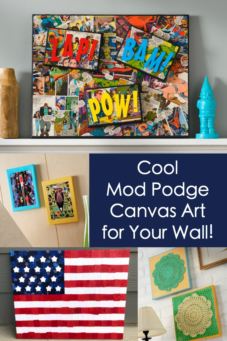 Mod Podge DIY canvas art ideas