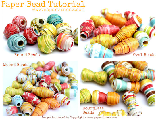 Mod Podge paper bead tutorial