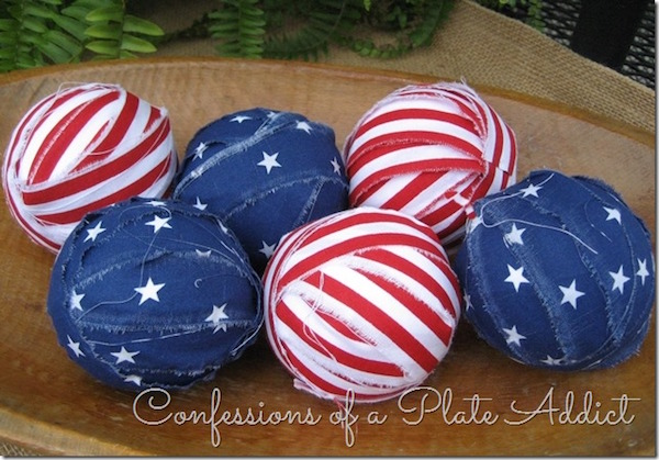 Stars and Stripes Fourth of July ball filler