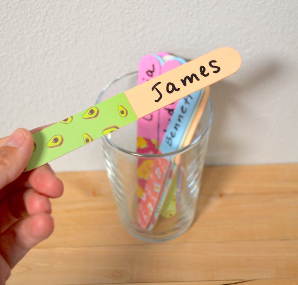 DIY student sticks made with popsicle sticks