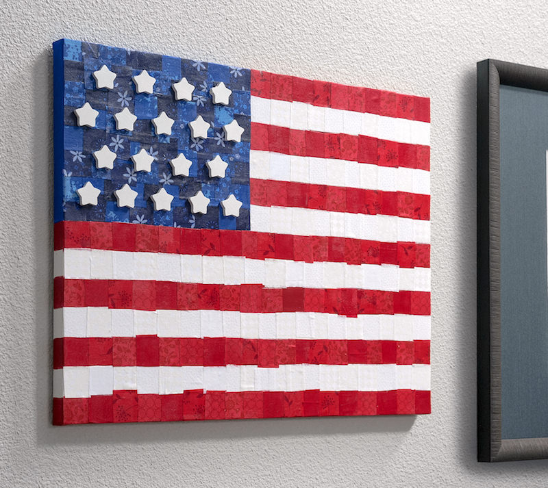 Fabric DIY Flag Canvas Wall Art
