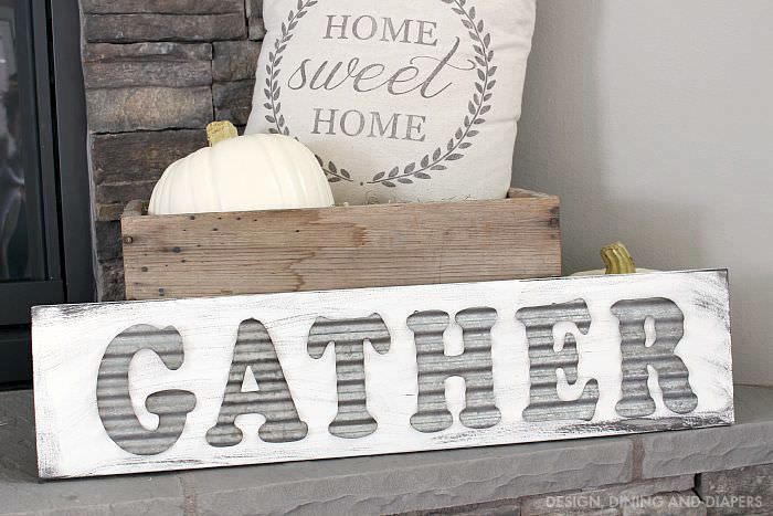 DIY-Gather-Sign-Using-Metal-Letters-on-Wood