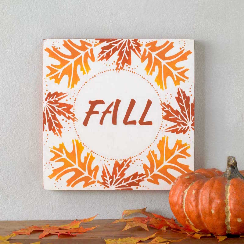 How to stencil a fall sign