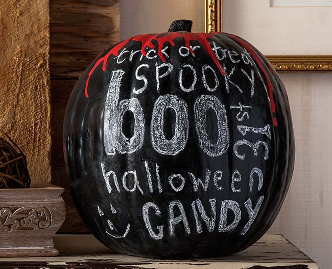 Blood Drip Chalkboard Pumpkin