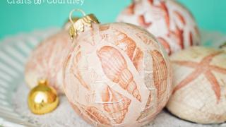 Coastal DIY Christmas Ornaments