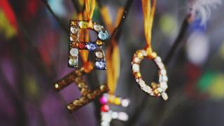 Custom Glittering Initial Ornaments