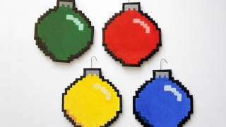 DIY 8-Bit Holiday Ornaments