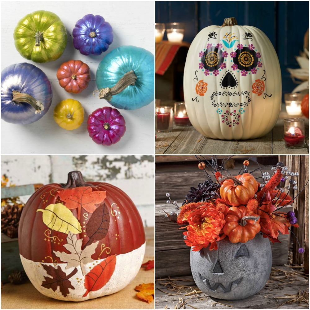 Painted Pumpkins That Will Rock Your Autumn , Mod Podge Rocks