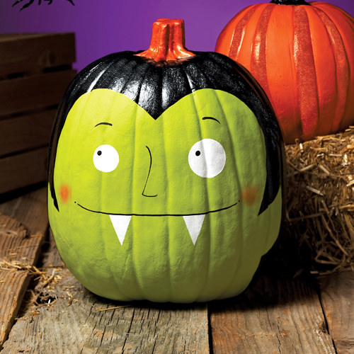 pumpkin painting ideas Frightfully Fun Dracula Pumpkin