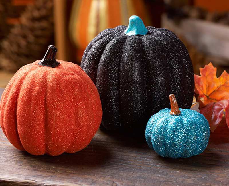 Glittered Pumpkin painting ideas
