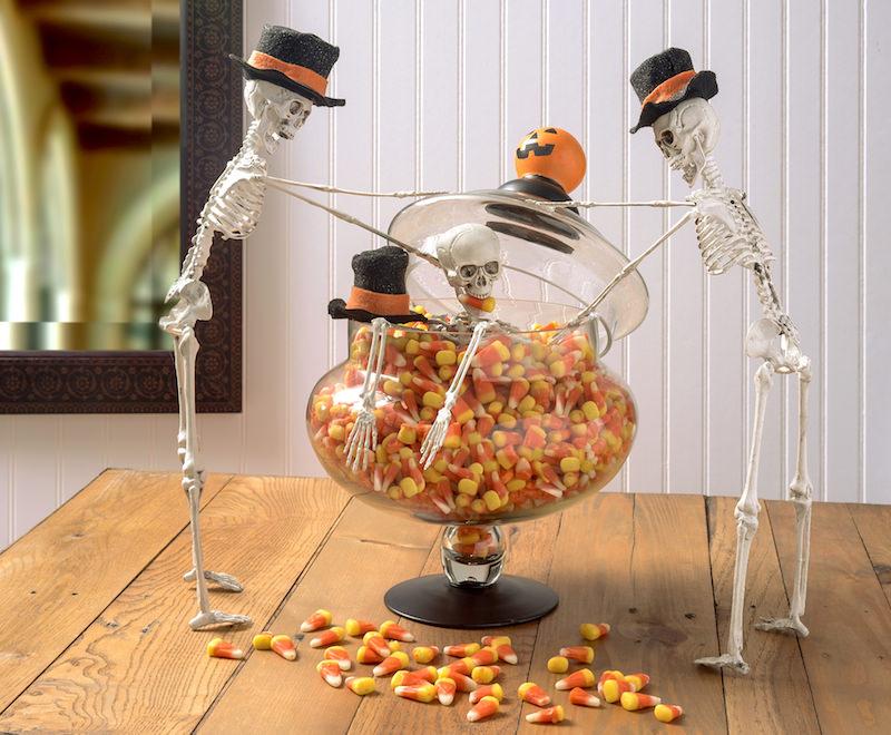 Halloween Candy Corn Centerpiece